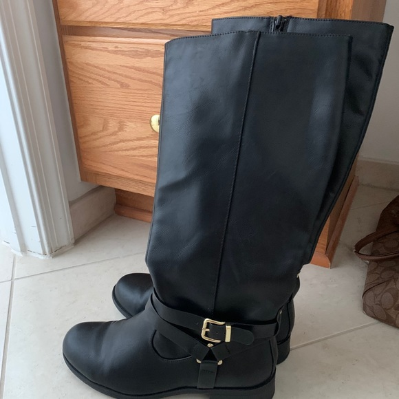 Black womens riding boots